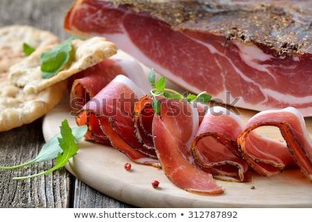 Crispy bread with prosciutto Stock photo © Digifoodstock