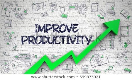 Improve Productivity Drawn on White Brickwall.  Stock photo © tashatuvango