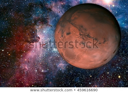 Sistemul solar al patrulea planetă soare subtire atmosfera Imagine de stoc © NASA_images