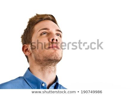 задумчивый человека портрет молодые бизнесмен Сток-фото © filipw