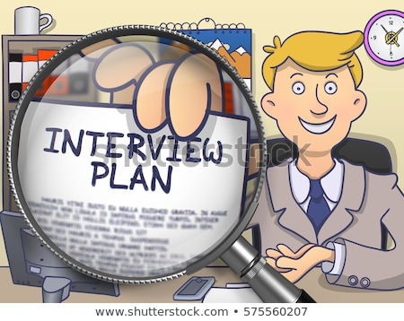 business plan through lens doodle style stock photo © tashatuvango