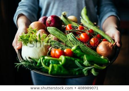 Kéz organikus krumpli nő étel kar Stock fotó © IS2