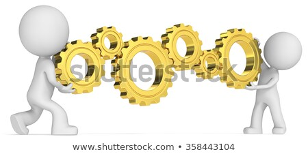 Social Connections - Mechanism of Metallic Gears . 3D . Stock photo © tashatuvango