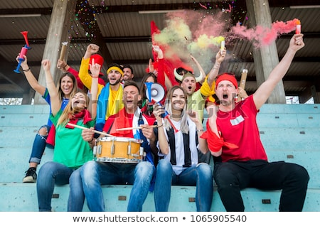 Fans singing at football match Stock photo © IS2