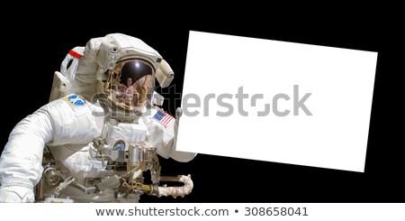 Astronot afiş poster pop art Retro Stok fotoğraf © studiostoks