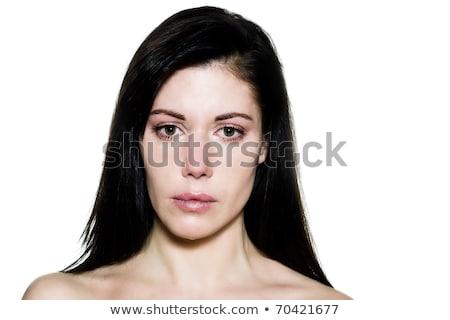 Topless kobieta patrząc kamery piękna portret Zdjęcia stock © IS2