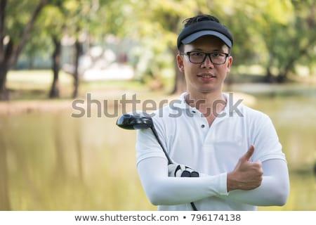 Portret mannelijke golfer man golf t-shirt Stockfoto © IS2