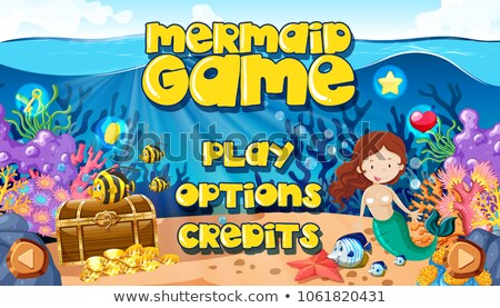 a mermaid underwater world game themplate stock photo © bluering