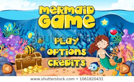 hableány · játék · vízalatti · oktatás · óceán · kocka - stock fotó © bluering