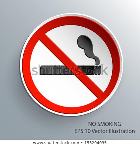 No smoking 3d Glossy Vector Icon Design Stock photo © rizwanali3d