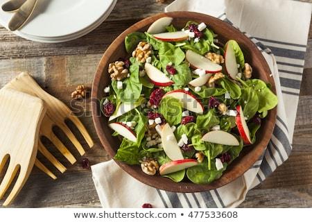 Salade appel spinazie vruchten kaas eten Stockfoto © glorcza