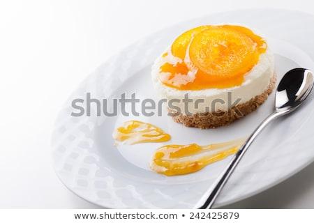 cheesecake or panna cotta stock photo © m-studio