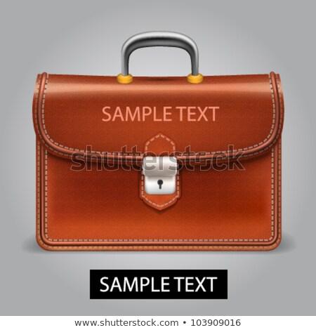 set · vintage · valigia · illustrazione · sfondo · bag - foto d'archivio © pikepicture