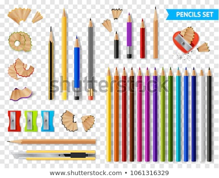Notebook Isolated With Pencils Transparent Background Stock photo © cammep