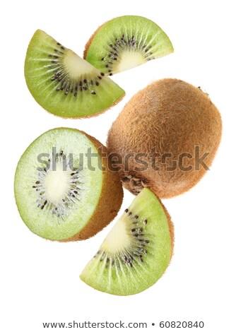 Volwassen vruchten kiwi geïsoleerd witte voedsel Stockfoto © ungpaoman