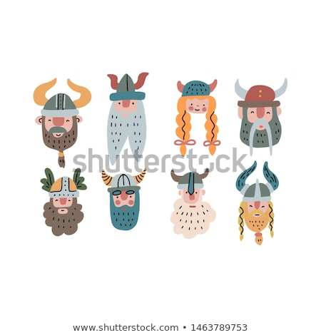Cartoon Smiling Viking Woman Stock photo © cthoman