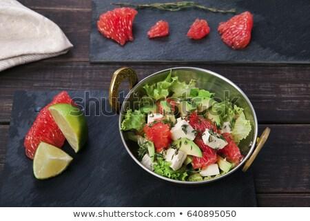 смешанный растительное Салат Тофу древесины обеда Сток-фото © M-studio