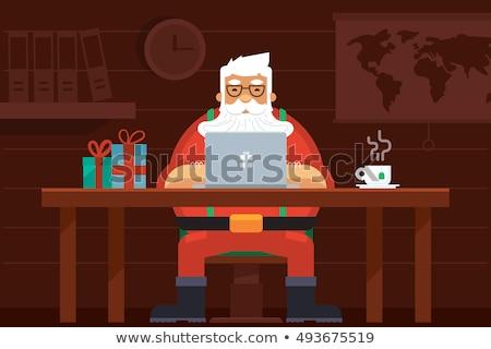 cartoon · laptop · home · geïsoleerd · witte · vector - stockfoto © pikepicture