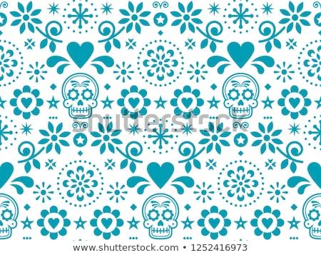 Cukru czaszki wektora mexican sztuki Zdjęcia stock © RedKoala