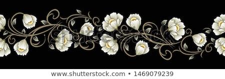 Stock photo: A floral border design