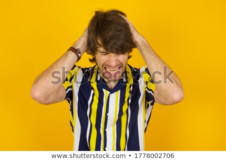 Portre umutsuz hasta adam kazak eşarp Stok fotoğraf © deandrobot