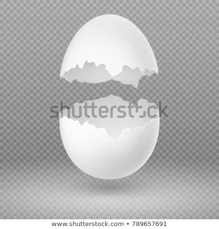rachado · ovo · imagem · engraçado · morto · cara - foto stock © blaskorizov