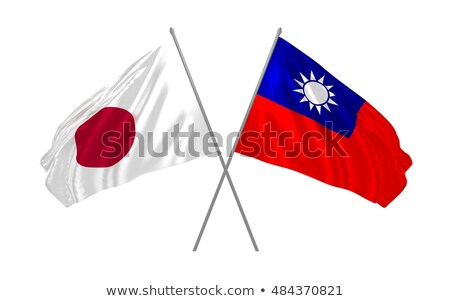 Two waving flags of Japan and taiwan Stock photo © MikhailMishchenko