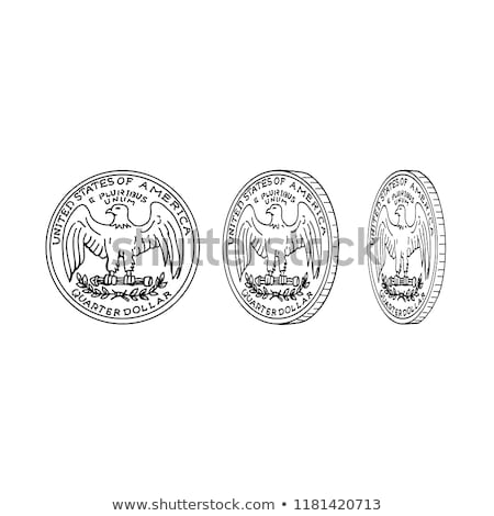 united states dollar coin spinning drawing stock photo © patrimonio