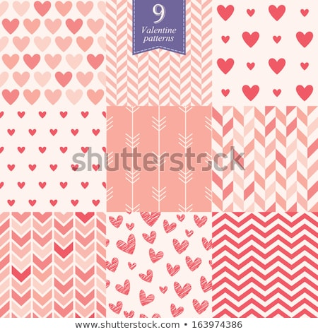 seamless patterns for valentines day set of 9 stock photo © lemony