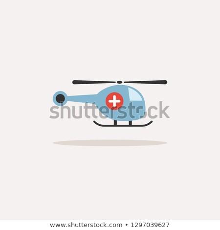 Vészhelyzet helikopter ikon árnyék bézs égbolt Stock fotó © Imaagio