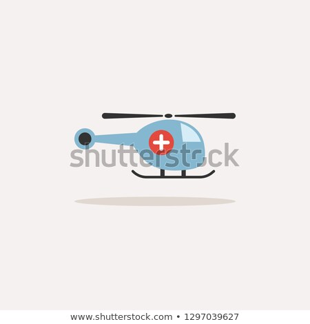 Urgence hélicoptère icône ombre beige ciel Photo stock © Imaagio