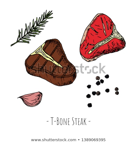 Friss steak barbecue vektor ikon rajz Stock fotó © robuart