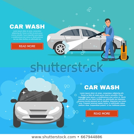Set of Horizontal Banners about car wash Stock photo © netkov1