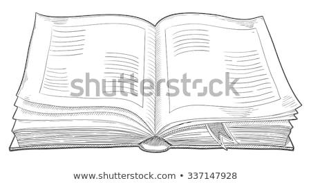 古本 · ベクトル · 紙 · 孤立した · 現実的な - ストックフォト © jeff_hobrath