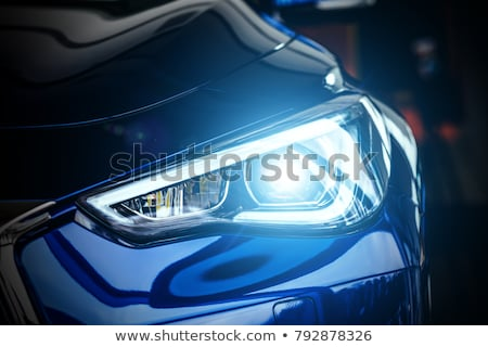 Modern Driving Car LED Headlights Background Stock photo © solarseven