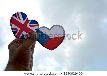 Placa diseno República Checa forma de corazón ilustración fondo Foto stock © colematt