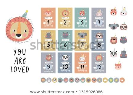 vector set of milestone Stock photo © olllikeballoon