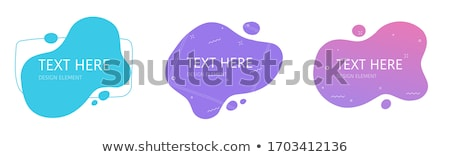 liquid shape abstract banners with halftone pattern Stock photo © SArts