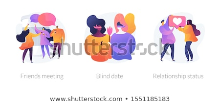 Kapcsolat állapot házaspár házastársi vágólap pici Stock fotó © RAStudio
