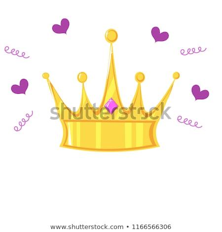 Kroon clip art ontwerp vector geïsoleerd illustratie Stockfoto © haris99
