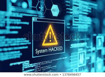 A Computer System Hacked Warning Stock photo © solarseven