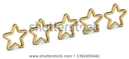Foto stock: Votação · cinco · dourado · estrelas · 3D · 3d · render
