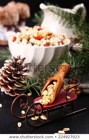 Szánkó merítőkanál búza hagyományos karácsony édes Stock fotó © Melnyk