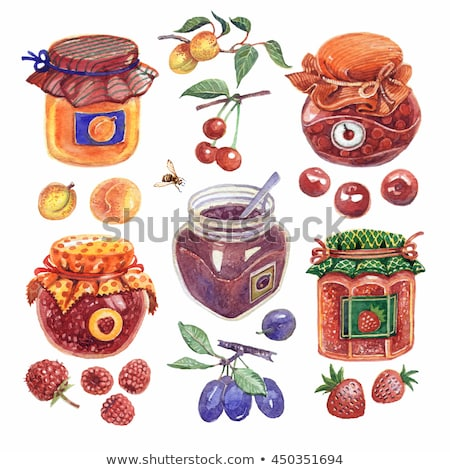 fruit jam set stock photo © netkov1