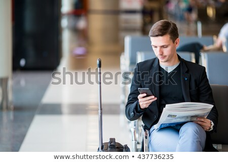 Zaman seyahat insanlar bilet vektör adam Stok fotoğraf © robuart