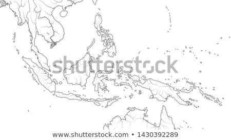 World Map of SOUTHEAST ASIA REGION: Indochina, Thailand, Malaysia, Indonesia, Philippines. (Chart). Stock photo © Glasaigh
