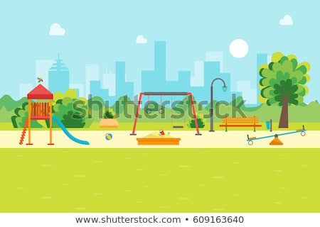 A seesaw playground background Stock photo © colematt