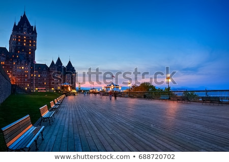 Old Quebec City Chateau Frontenac at Sunset night Stock photo © Lopolo