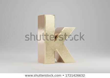 Character A on white background. Isolated 3D illustration stock photo © ISerg