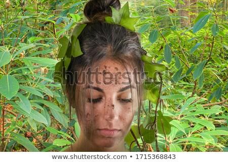 女性 リラックス ツリー 熱帯雨林 庭園 女性 ストックフォト © lovleah